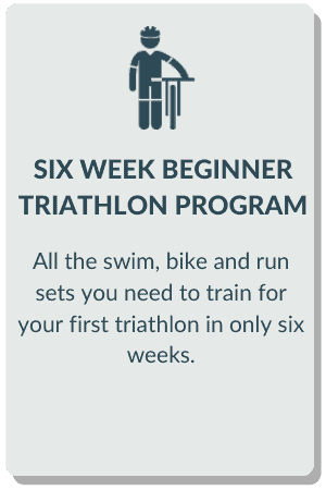 six week beginner triathlon program